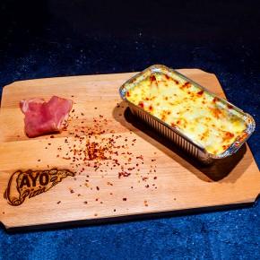 Cartofi cu sos de usturoi si mozzarella
